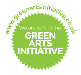 We are part of the Green Arts Initative
