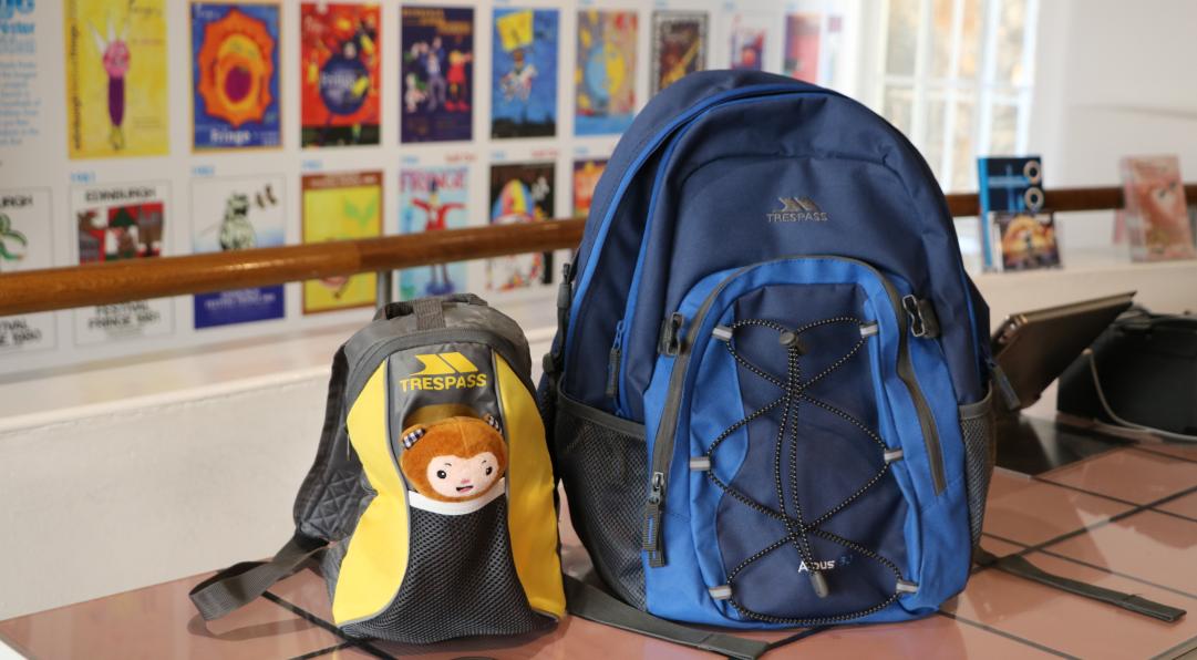 Sensory backpacks in the Fringe shop